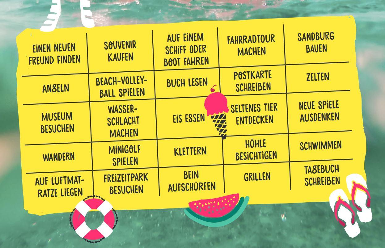 Urlaubs-Bingo